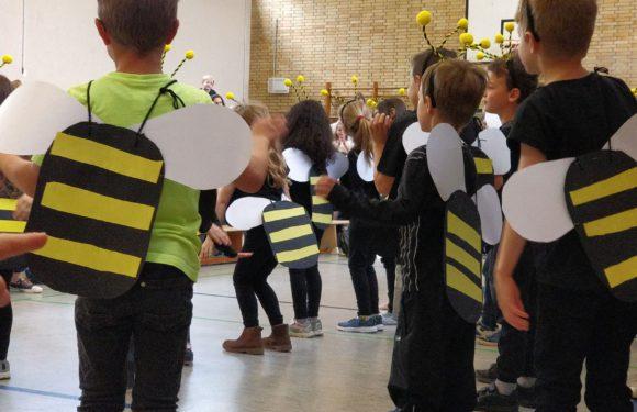 Viele Bienen auf unserem Schulfest
